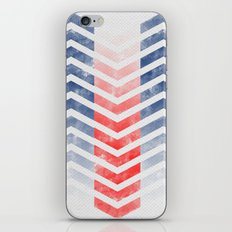 Chevron in Red White & Blue iPhone & iPod Skin