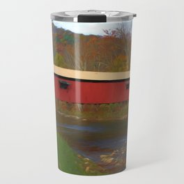 Forksville Covered Bridge Travel Mug