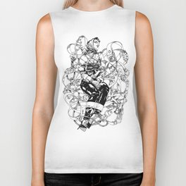 Lady in Belts Fantasy Biker Tank