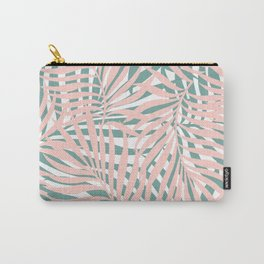 Hawaii Palms Prints, Pink and Teal Carry-All Pouch