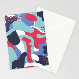 Camo Art Abstract Design Stationery Cards