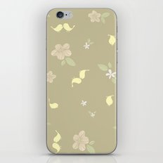 Floral on tan iPhone & iPod Skin