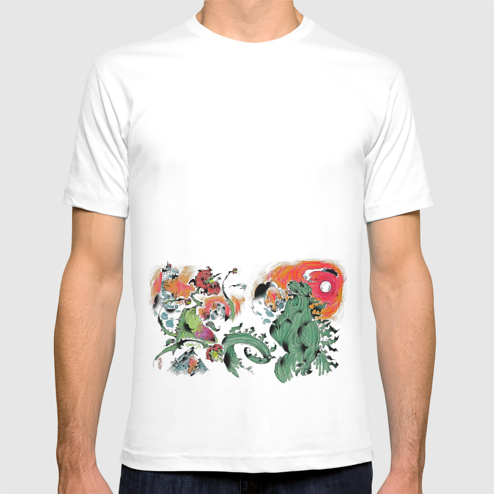 Godzilla Vs Biollante A'la Dang T-shirt by Mrdang TSR1652607