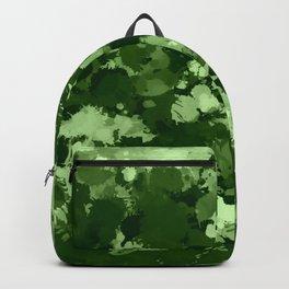 Green Paint Splatter Camo  Backpack