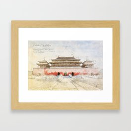 The forbidden City, Beijing Framed Art Print
