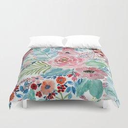 Pretty watercolor hand paint floral artwork. Duvet Cover