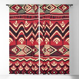 African Tribal Pattern No. 116 Blackout Curtain