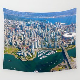 Peeking at Vancouver Wall Tapestry