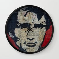 kerouac Wall Clocks featuring Jack Kerouac: Get On The Beat  by Emily Storvold