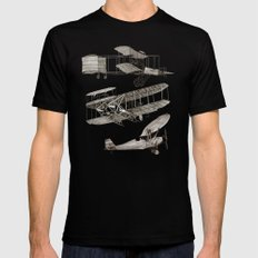 airplanes Mens Fitted Tee LARGE Black