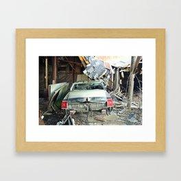 Barn Crash Framed Art Print