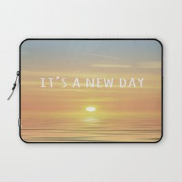 It's A New Day (Typography) Laptop Sleeve
