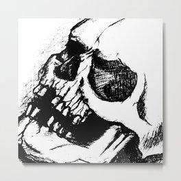 skull sketch tattoo Metal Print