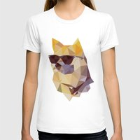 doge T-shirts featuring Polygonal Doge  by Michael Fortman