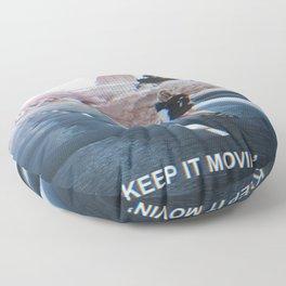 Keep it Movin' Floor Pillow