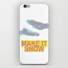 make it snow iPhone Skin