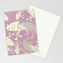 Totem Artic Wolf lilac Stationery Cards