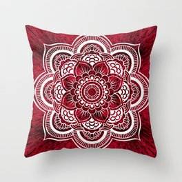 Mandala Red Colorburst #authentic Throw Pillow