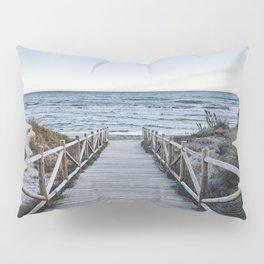 """Walking to the beach....."" At sunset Pillow Sham"