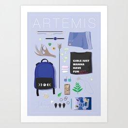 Modern Artemis Flatlay Art Print