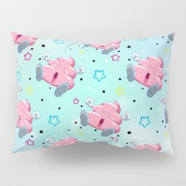 Pink Poo Pillow Sham
