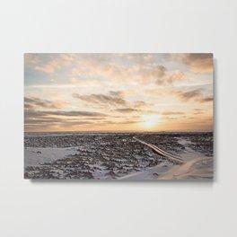 Snaefellsnes- Snowy Road Metal Print