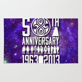 50th anniversary Doctor Who 1 Rug