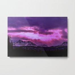 Chugach Mountains in Purple - II Metal Print
