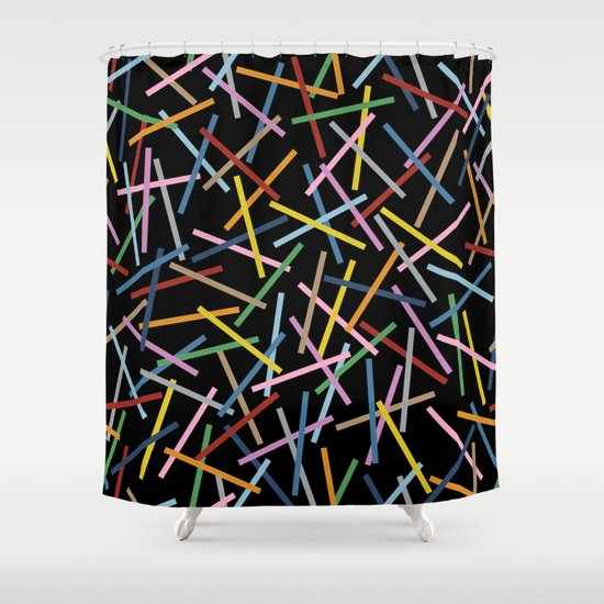 Kerplunk Black Shower Curtain