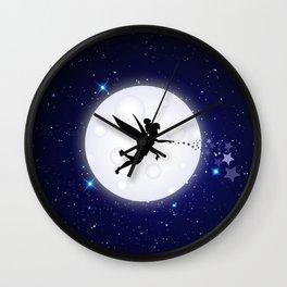 Elf Starry Night Wall Clock
