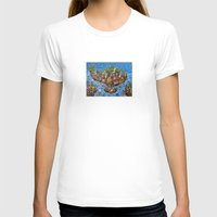 bali T-shirts featuring Bali Map Art Painting  by Rothko