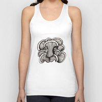 mushrooms Tank Tops featuring Mushrooms by Freja Friborg