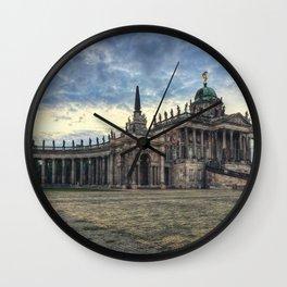 Neues Palais at dusk Wall Clock