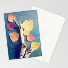 Autumn Birch Leaves and Twigs Stationery Cards