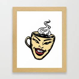 Hot cup of coffee Framed Art Print