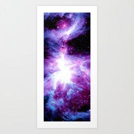 Orion Nebula Purple Periwinkle Blue Galaxy Art Print