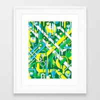 brazil Framed Art Prints featuring Brazil by Roberlan Borges