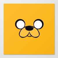 jake Canvas Prints featuring Jake by Expired Kimchi
