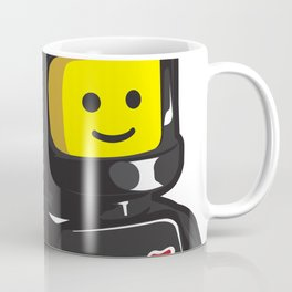 Vintage Lego Black Spaceman Minifig Coffee Mug