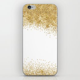 Sparkling golden glitter confetti effect II #Society6 iPhone Skin