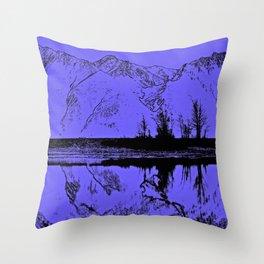 Knik River Mts. Pop Art - 1 Throw Pillow