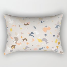 Lively Colorful Terrazzo Pattern Rectangular Pillow