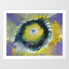 Sun Goddess Abstract Art Art Print