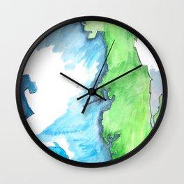Map of FL Wall Clock