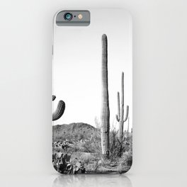 Grey Cactus Land iPhone Case