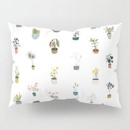 plants in pots Pillow Sham