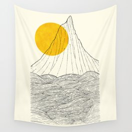 The tall cliff by the sea Wall Tapestry