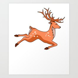 Eat More Fast Food Deer Hunting Fast Food Hunter Driven Hunt Stalker Art Print