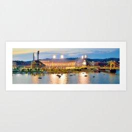 Pittsburgh Baseball Panoramic Print Art Print
