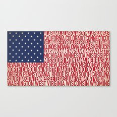 American Type Flag Canvas Print